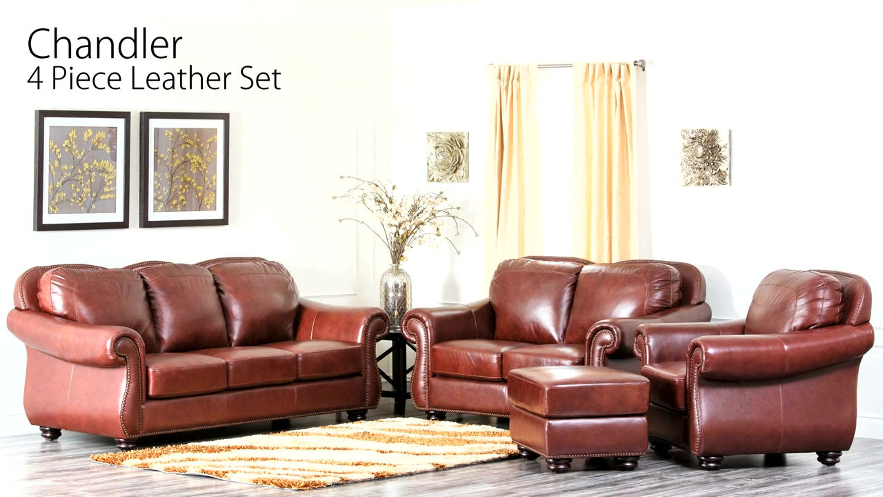 Chandler 4-piece Leather Set - Video Gallery