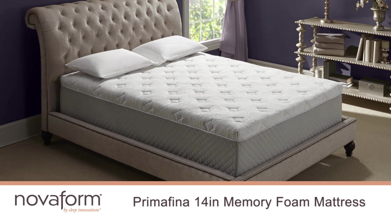 novaform topper innocor pearl products serafina gel memory mattress foam