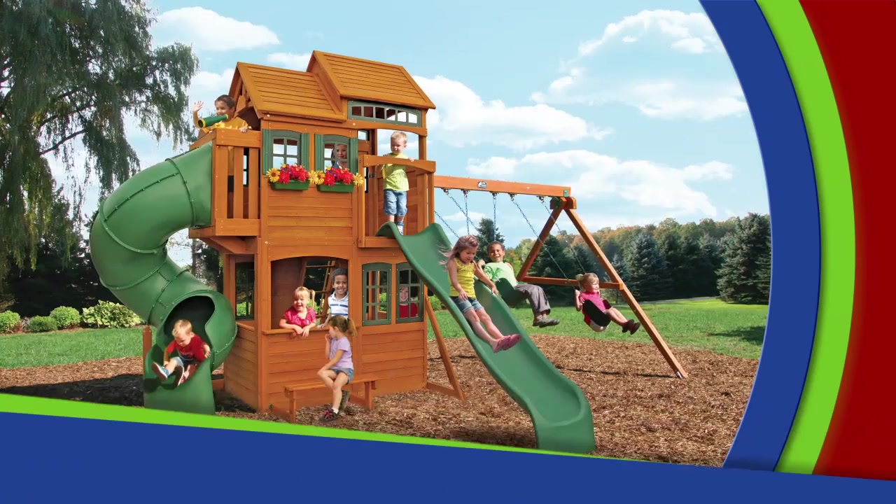 Cedar summit shelbyville deluxe playset video gallery publicscrutiny Image collections