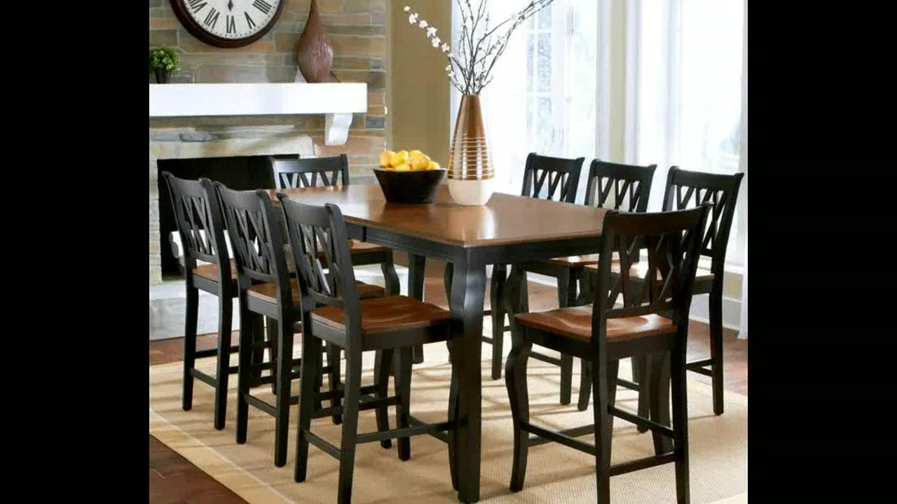 roslyn 9 piece rectangle counter height dining set video gal