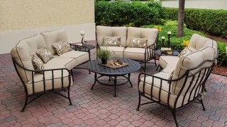 Cortez 6-piece Crescent Deep Seating Set with Coffee Table ...