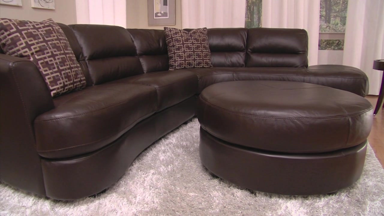 : nouveau top grain leather sectional - Sectionals, Sofas & Couches