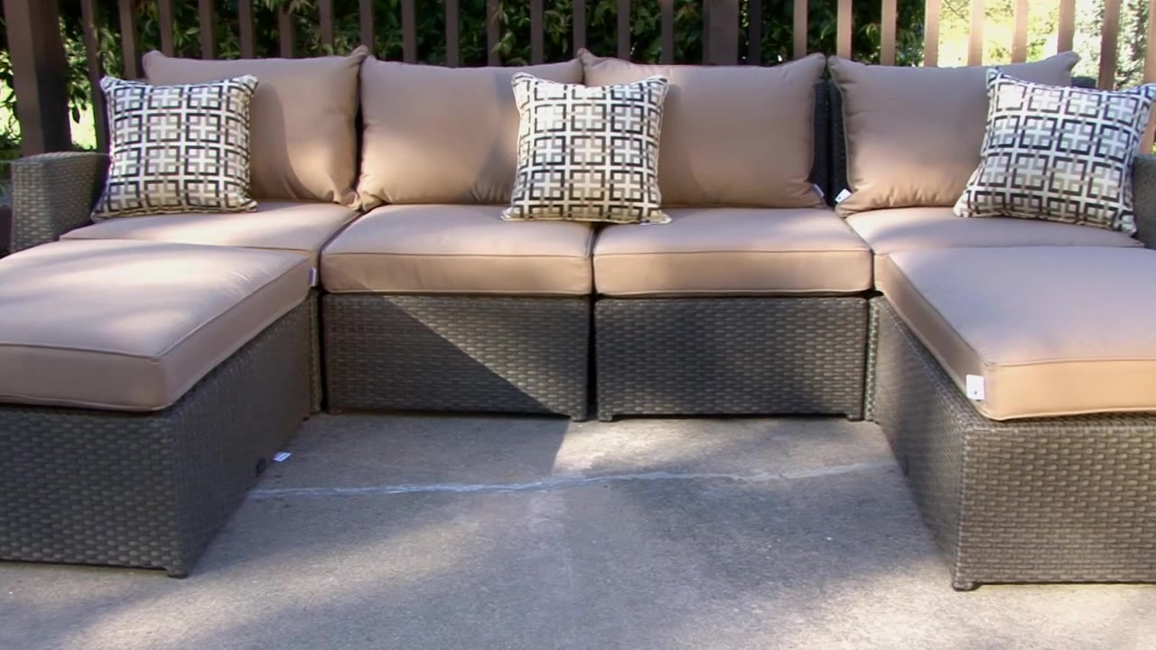 Charmant Hampton 6 Piece Patio Deep Seating Sectional By Sirio™ U0026raquo; Furniture    Video Gallery