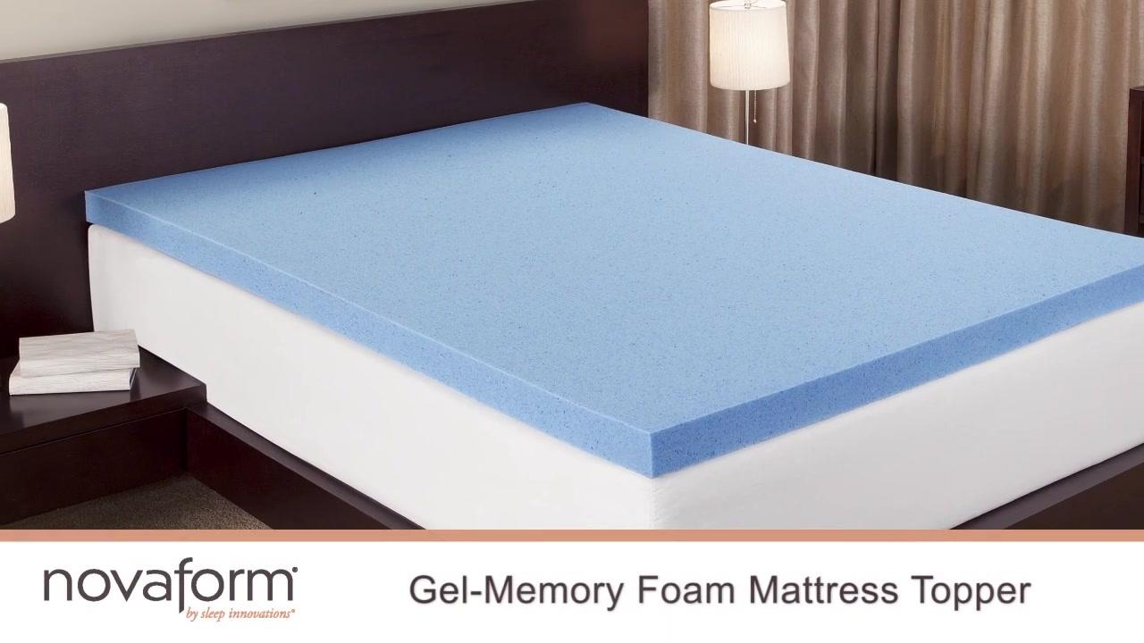 novaforma 3 gel memory foam mattress topper video gallery