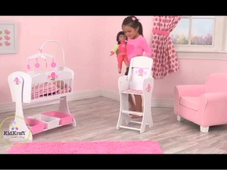 Charming KidKraft Floral Fantasy Doll Furniture U0026raquo; Dolls   Baby   Kids   Video  Gallery