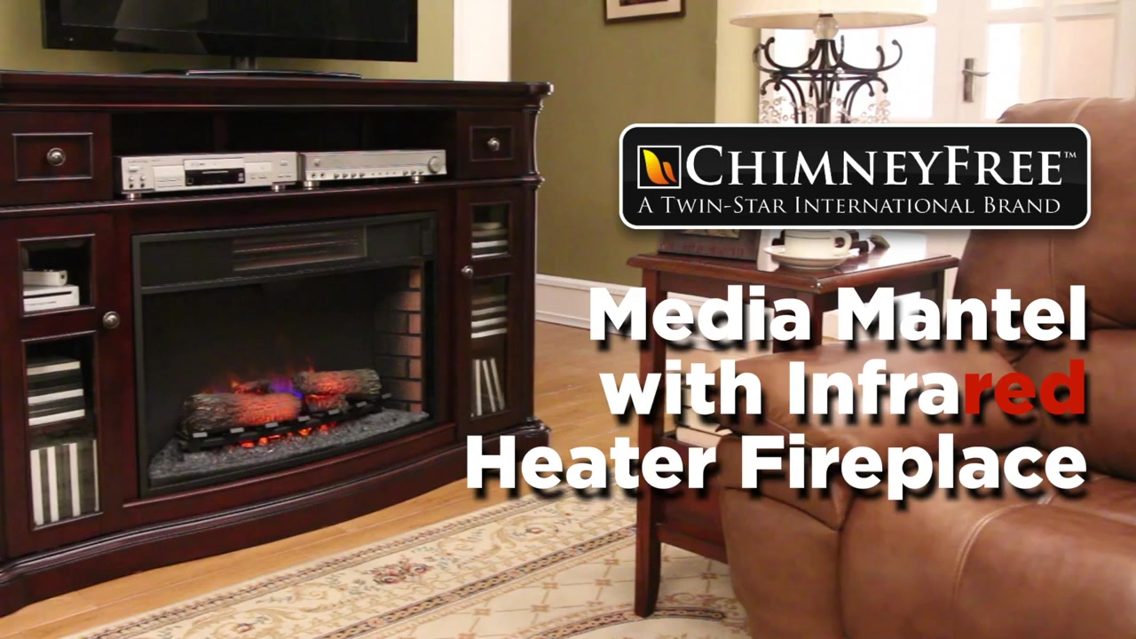 media mantel with infrared heater fireplace video gallery
