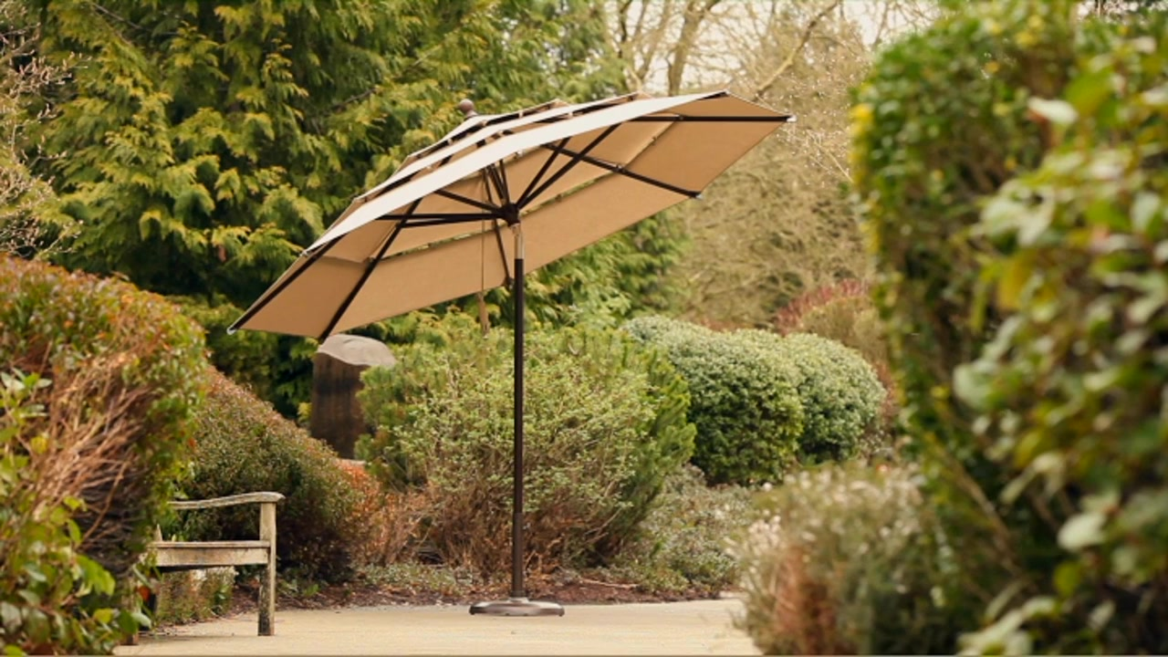 umbrella offset patio canada costco large outdoor slivaj