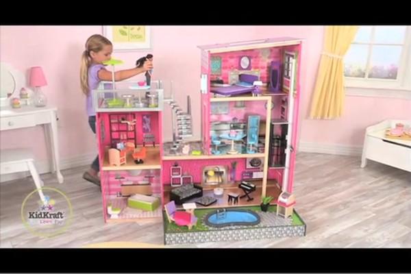 Kidkraft Luxury Uptown Mansion Dollhouse 35 Pc Of Furniture Raquo