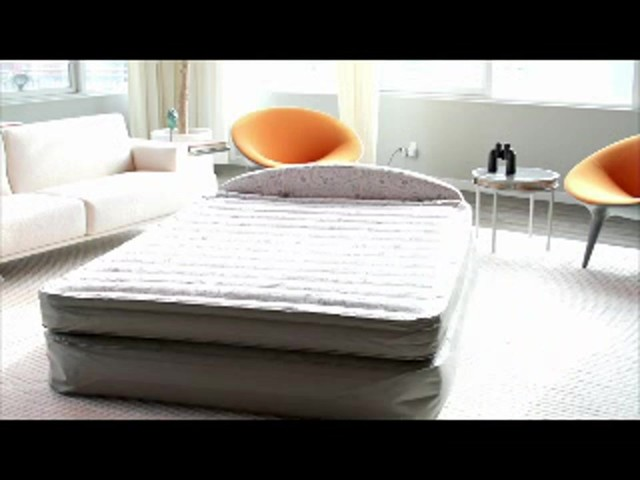 "aerobed® "" queen air mattress with headboard design  video gallery, Headboard designs"