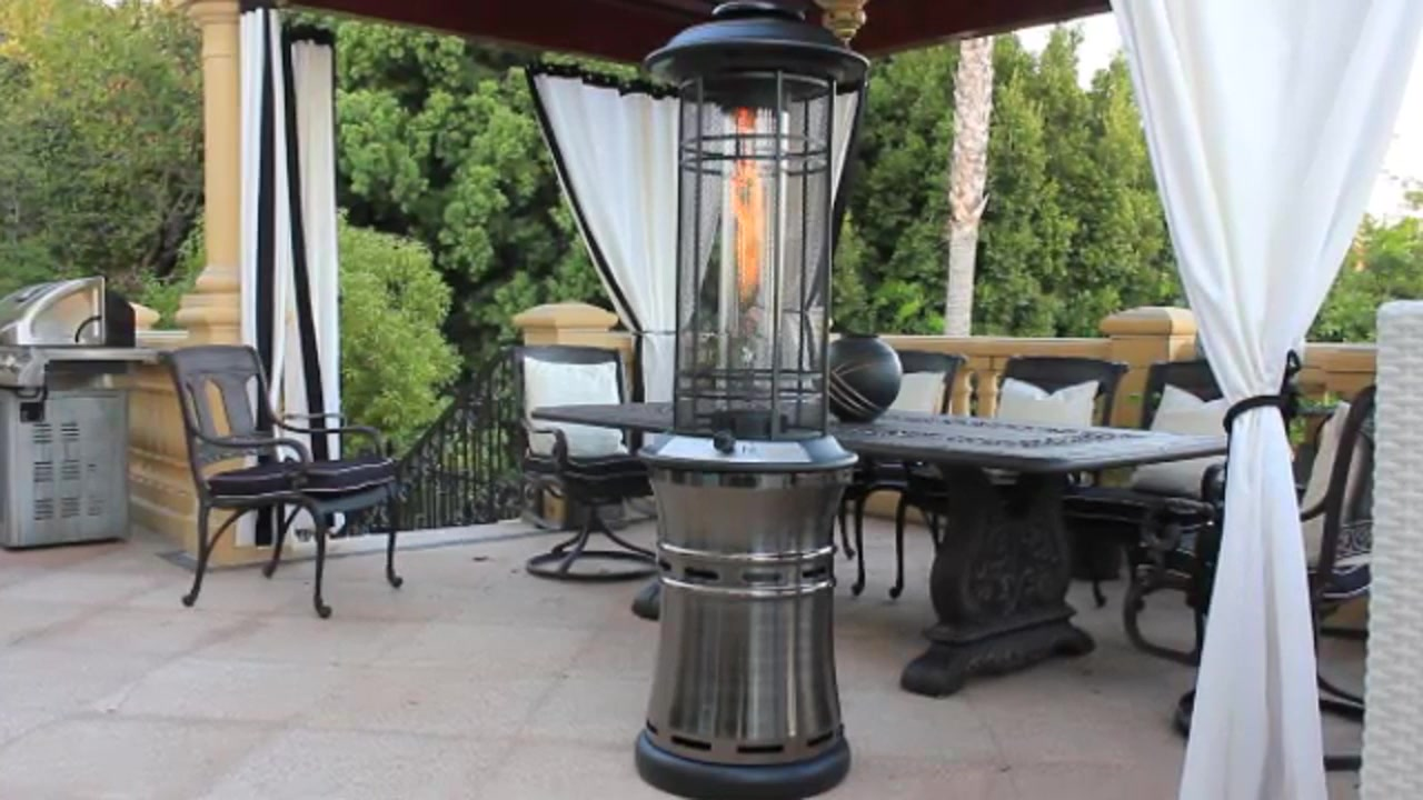 Lava Heat Ember Gun Metal Collapsible Patio Heater   Video Gallery
