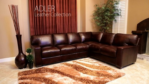 Adler Leather Sectional U0026raquo; Abbyson Living   Furniture   Video Gallery