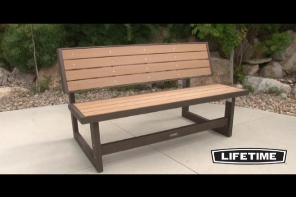 lifetime convertible bench - video gallery