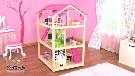 Kidkraft New So Chic Dollhouse 45 Pc Of Furniture Fits 12 Dolls