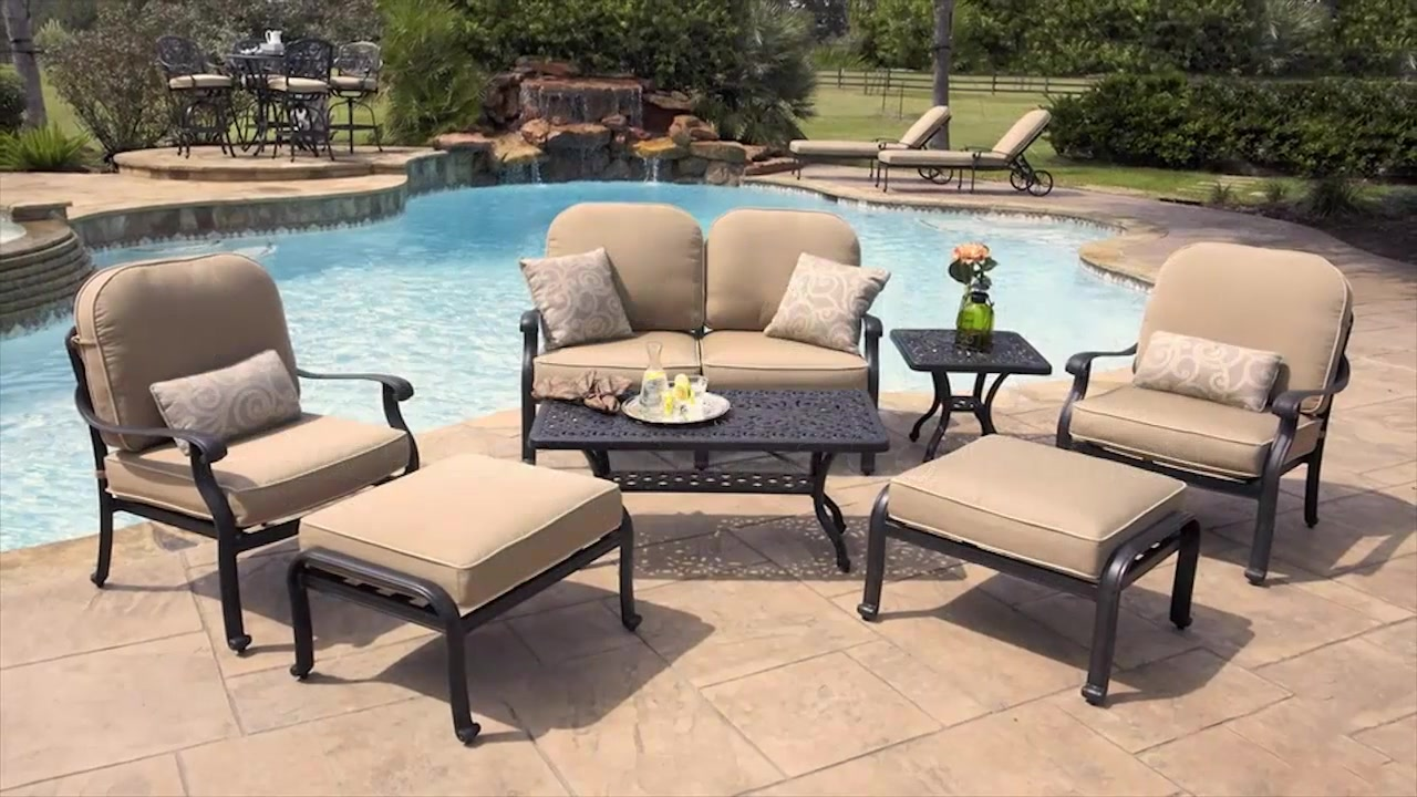 San Paulo 7 Piece Patio Deep Seating Collection U0026raquo; Veranda Classics    Lawn   Video Gallery