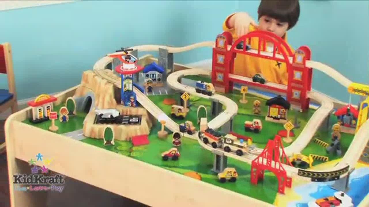 Metropolis Train u0026 Table Set *Video reflects Train Set Only u0026raquo; KidKraft - Toys - Video Gallery  sc 1 st  Costco Wholesale & Metropolis Train u0026 Table Set *Video reflects Train Set Only u0026raquo ...