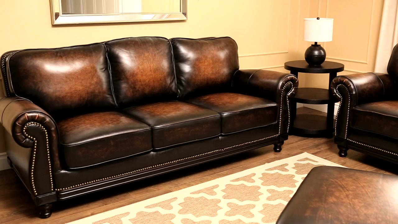 Kingsbury 4 Piece Top Grain Leather Living Room Set How I Successfuly Organized My Very Own