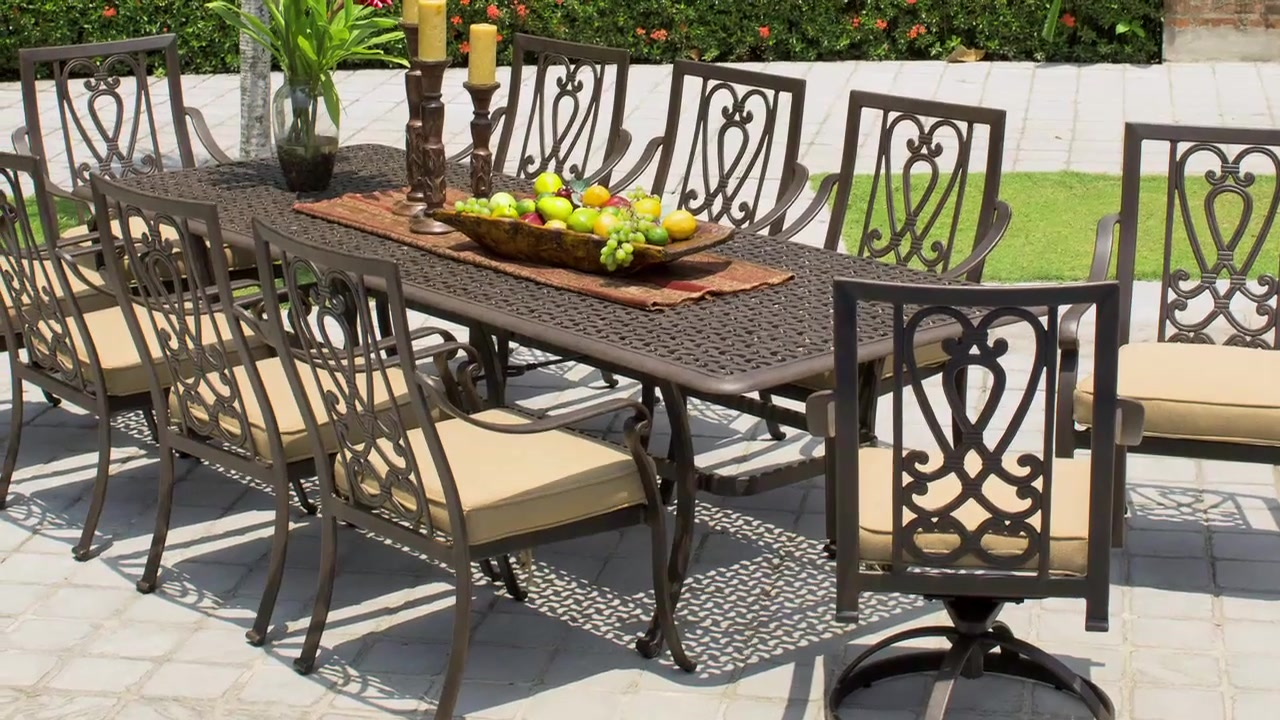 Saratoga 11-piece Patio Dining Collection - Video Gallery