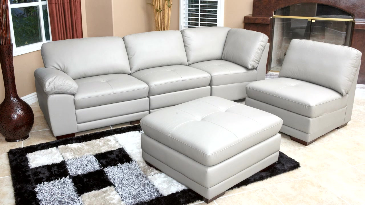 portman leather piece modular sectional  video gallery -