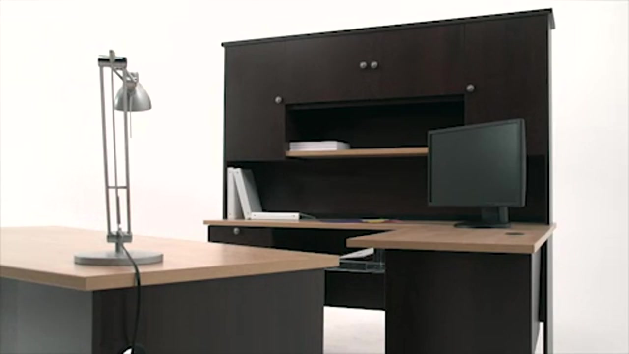 merritt with attractive computer u bestar hutch shape pro tremblant contemporary ash regard desk shaped in within storage commercial to