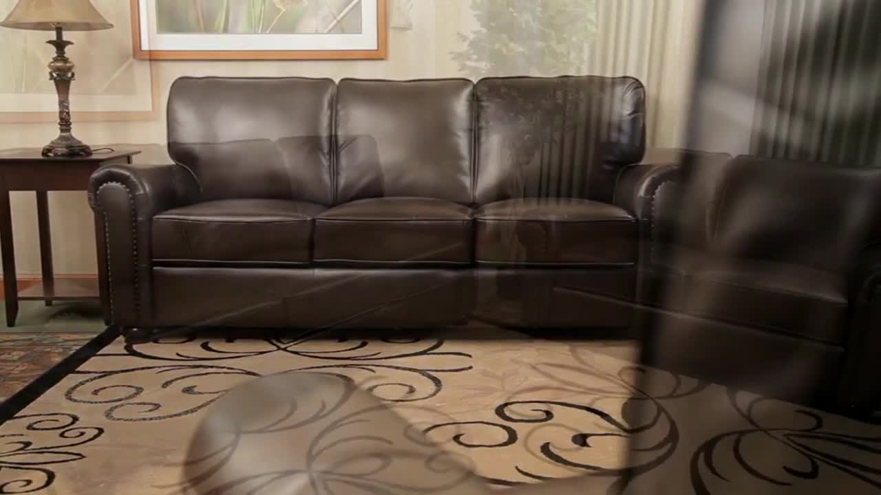 549473 Bellagio Leather Collection U0026raquo; Abbyson   Furniture   Video  Gallery