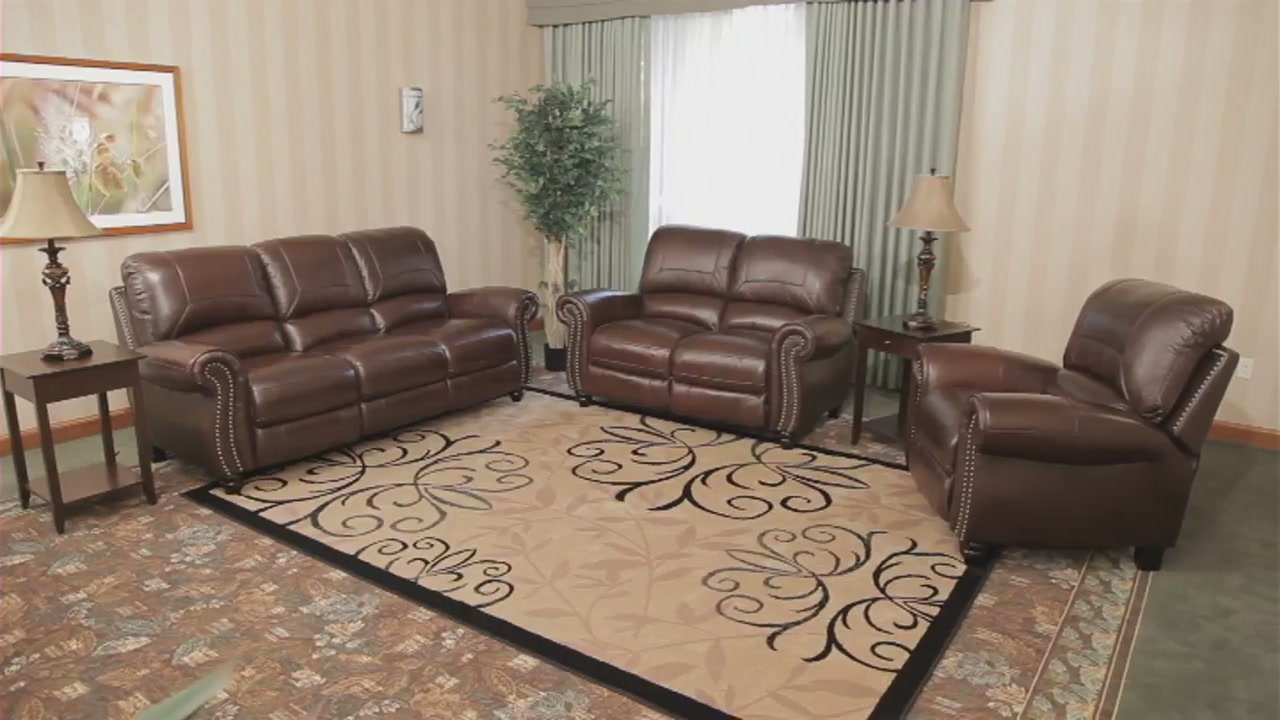 Exceptional 498982 Cambridge Leather Collection U0026raquo; Abbyson   Furniture   Video  Gallery