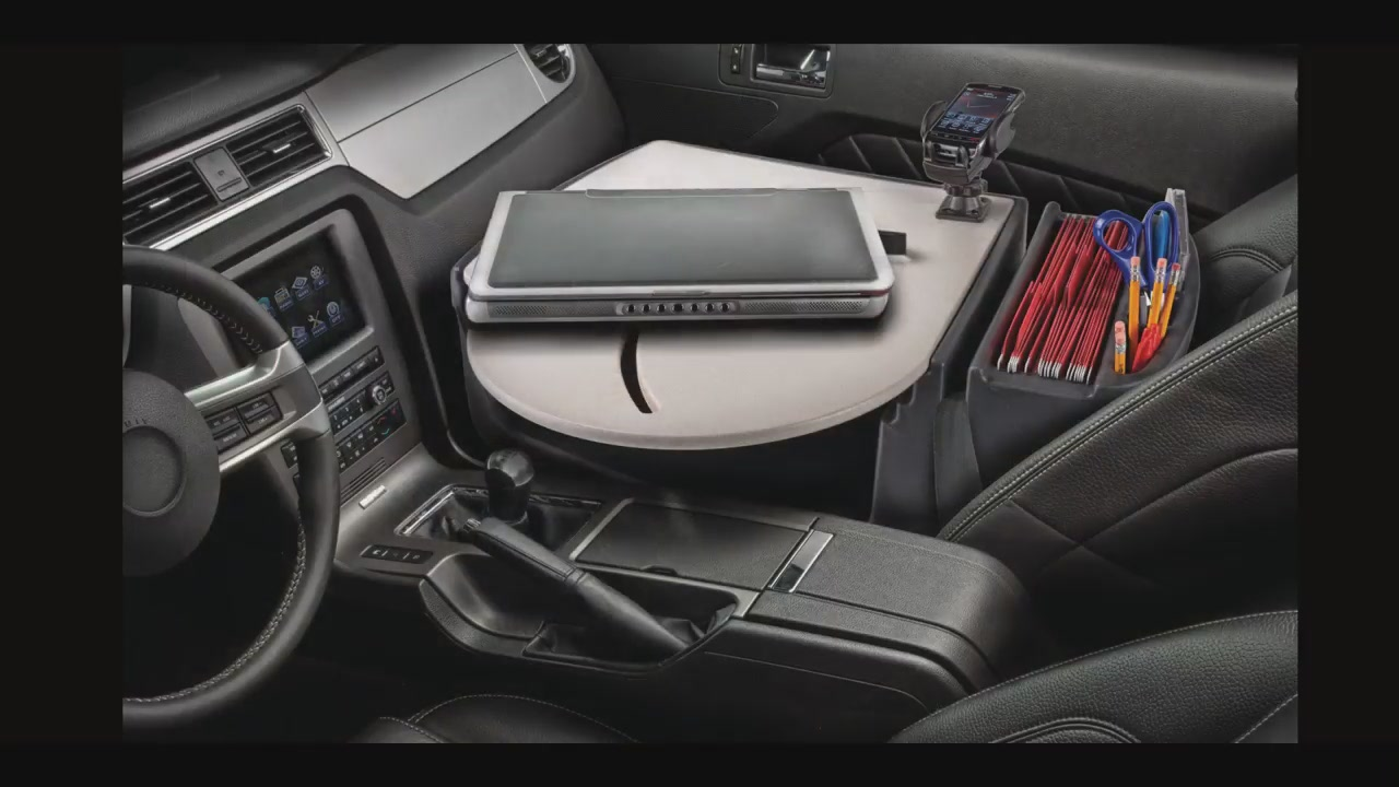 Autoexec Roadmaster Car Desk With Inverter And Mounts Raquo Office Video Gallery