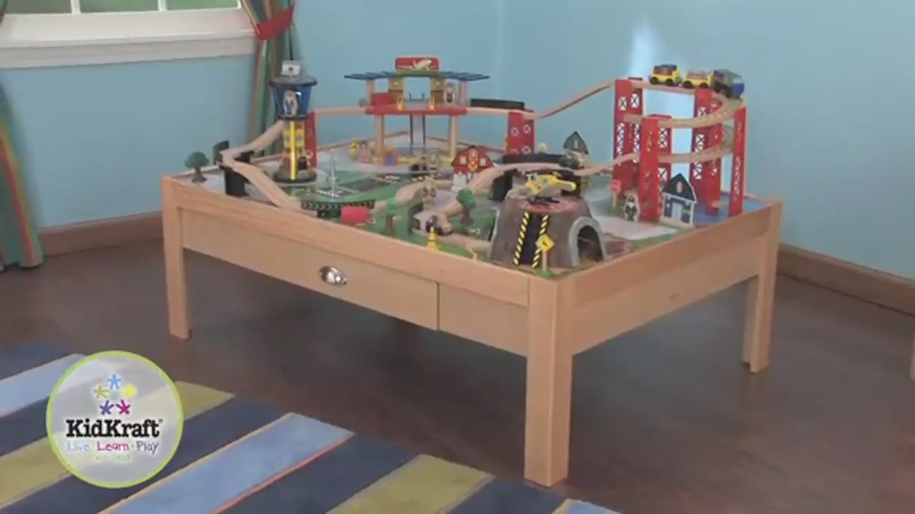 KidKraft Airport Express Train Set  Table Video Gallery - Train set table