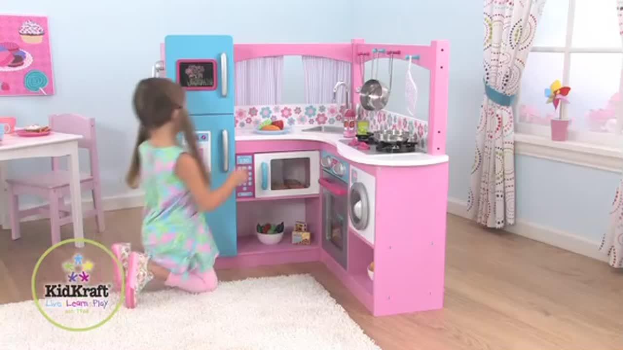 Kidkraft Corner Kitchen kidkraft® my groovy gourmet corner kitchen - video gallery