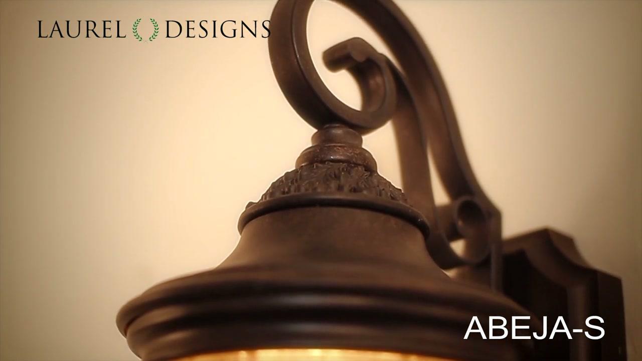 Ourdoor Wall Light Fixture Dark Bronze Coach Lamp U0026raquo; Laurel Designs    Video Gallery