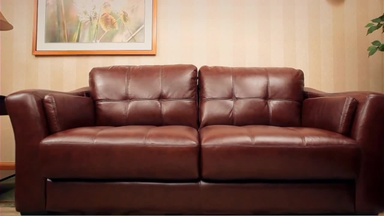 Florentine 3-Piece Top Grain Leather Set » Abbyson - Furniture - Video Gallery