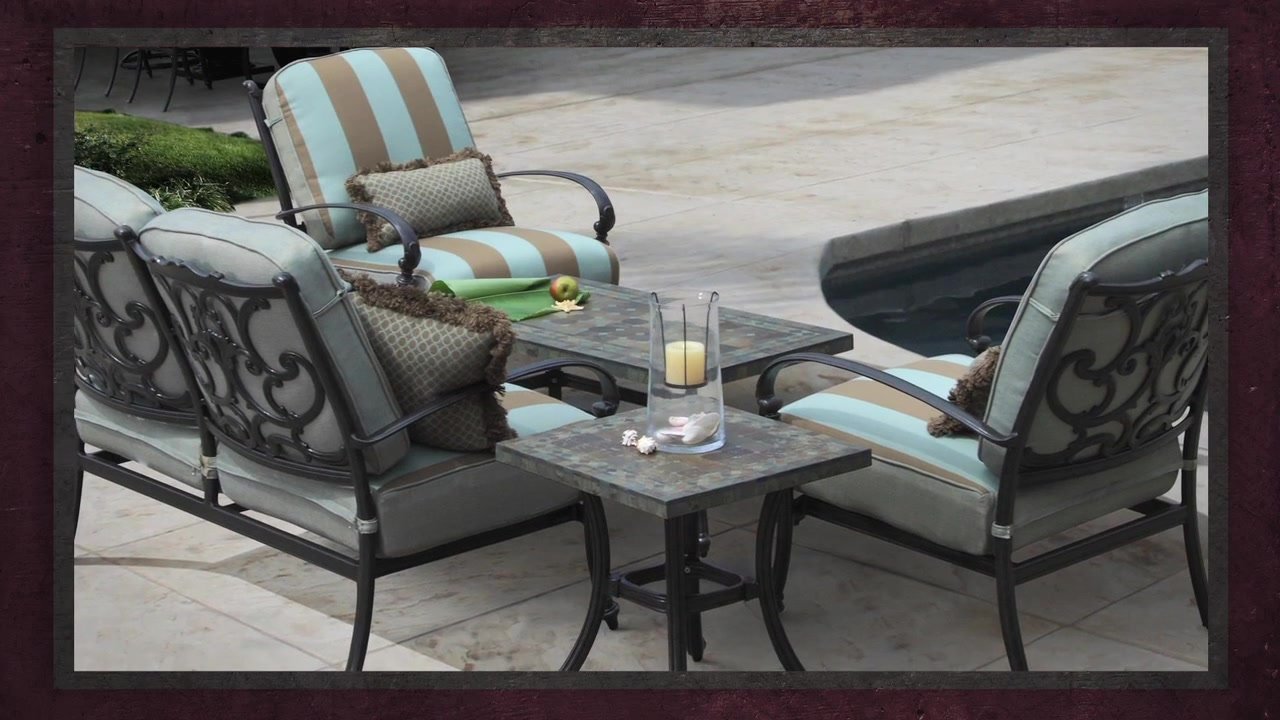 Monte Cristo 5 Piece Deep Seating Set U0026raquo; Veranda Classics   Video  Gallery