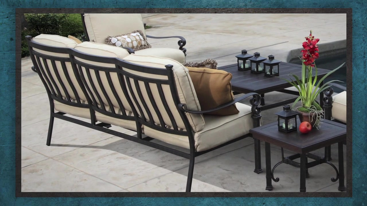 Meridian 5 Piece Deep Seating Set U0026raquo; Veranda Classics   Video Gallery