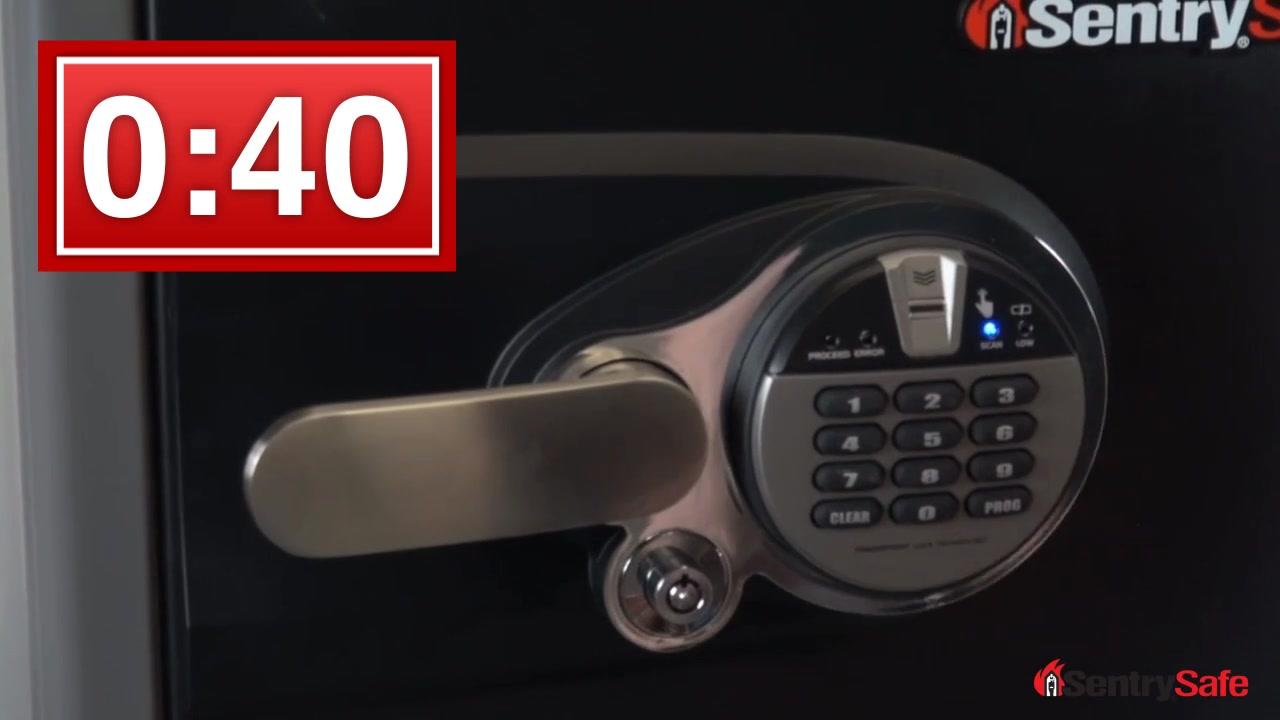 sentrysafe 12 cu ft biometric firesafe u0026raquo safes video gallery - Sentry Fire Safe