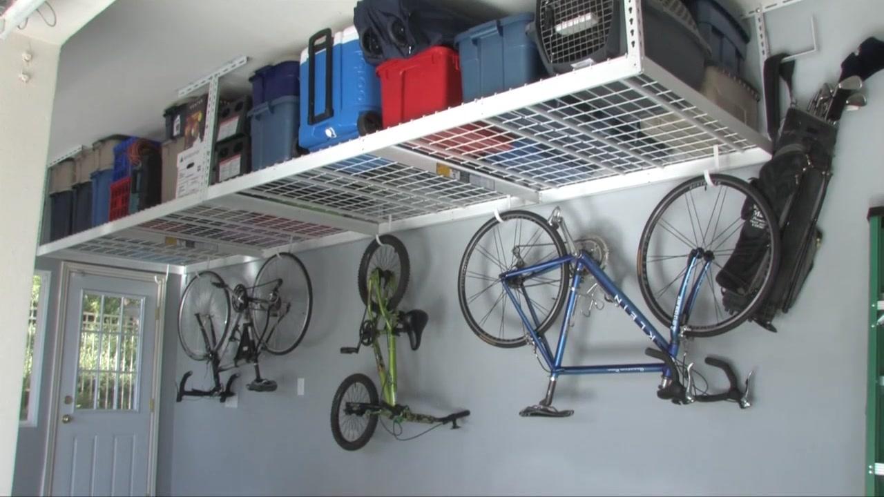 & SafeRacks 4 x 8 Overhead Garage Storage Rack - Video Gallery