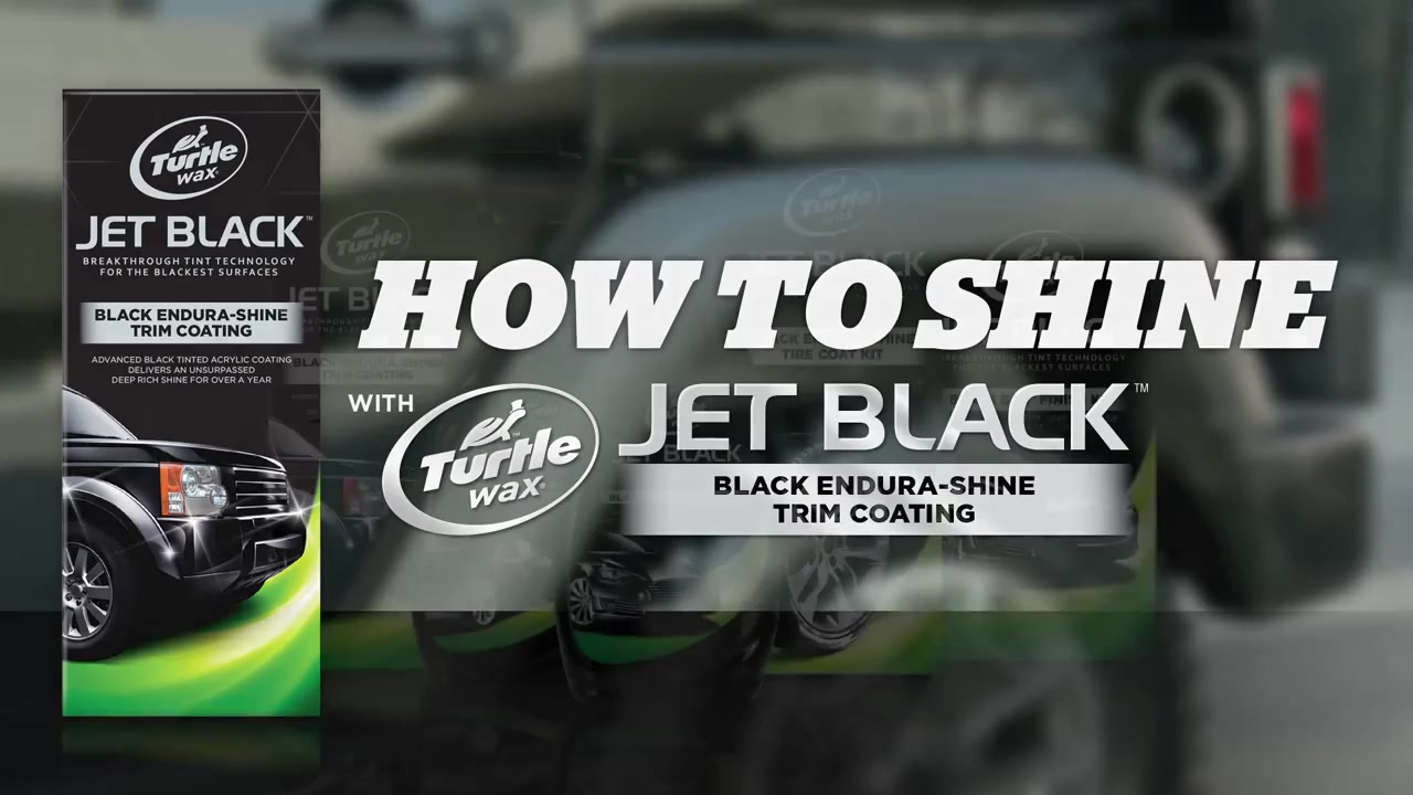 turtle wax® jet black black endura shine trim coating t128kt turtle wax® jet black black endura shine trim coating t128kt video o reilly auto parts